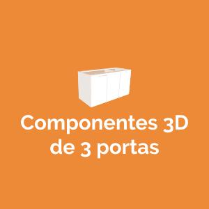 Componentes 3D de 3 portas
