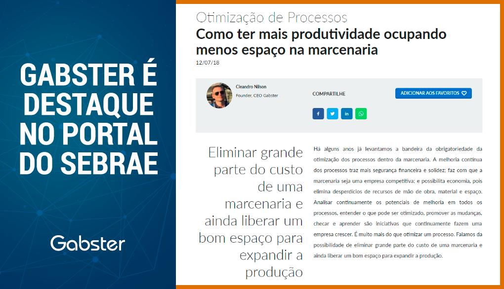 Gabster & Sebrae – Resumo do artigo com dicas para ter mais produtividade – Portal do Sebrae para o segmento moveleiro