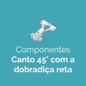 Novos Componentes Canto 45°com a Dobradiça Reta