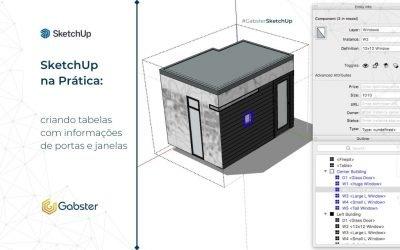 SketchUp na Prática: criando tabelas com informações de portas e janelas