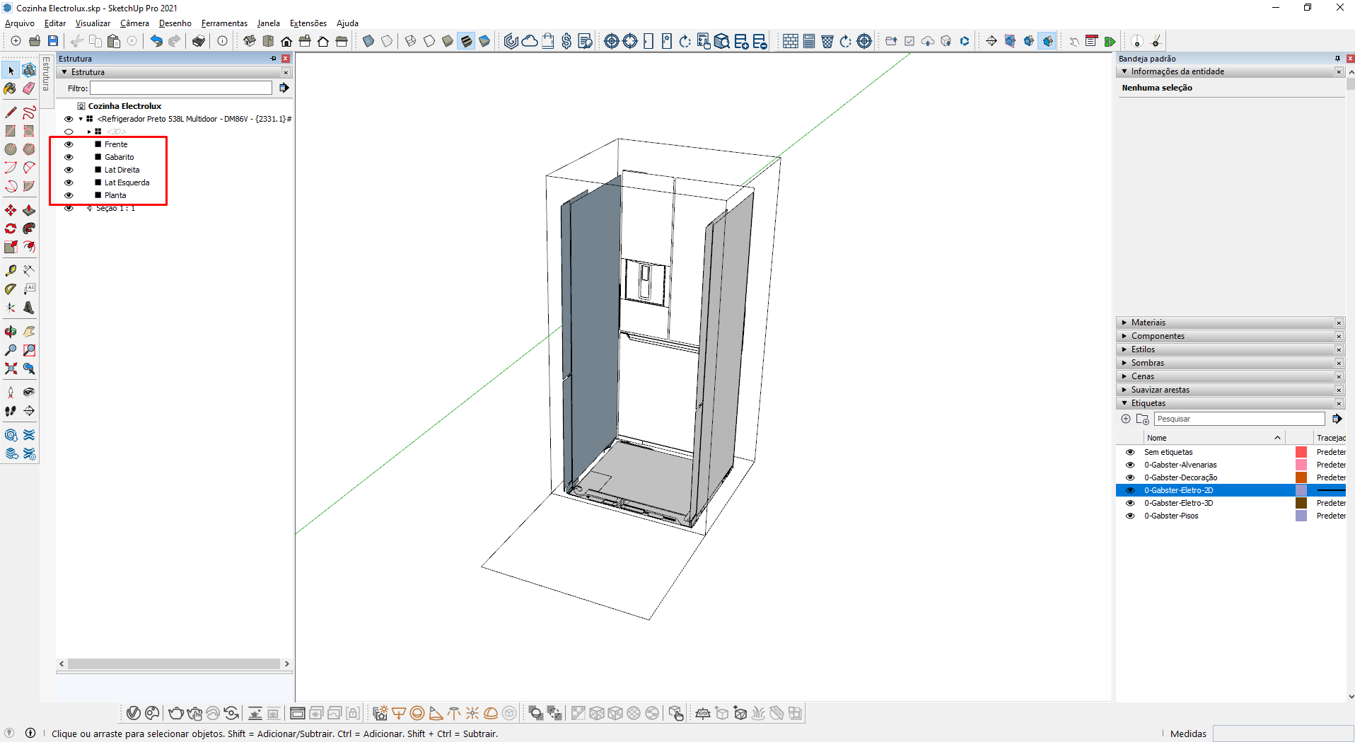 gabster estrutura blocos sketchup