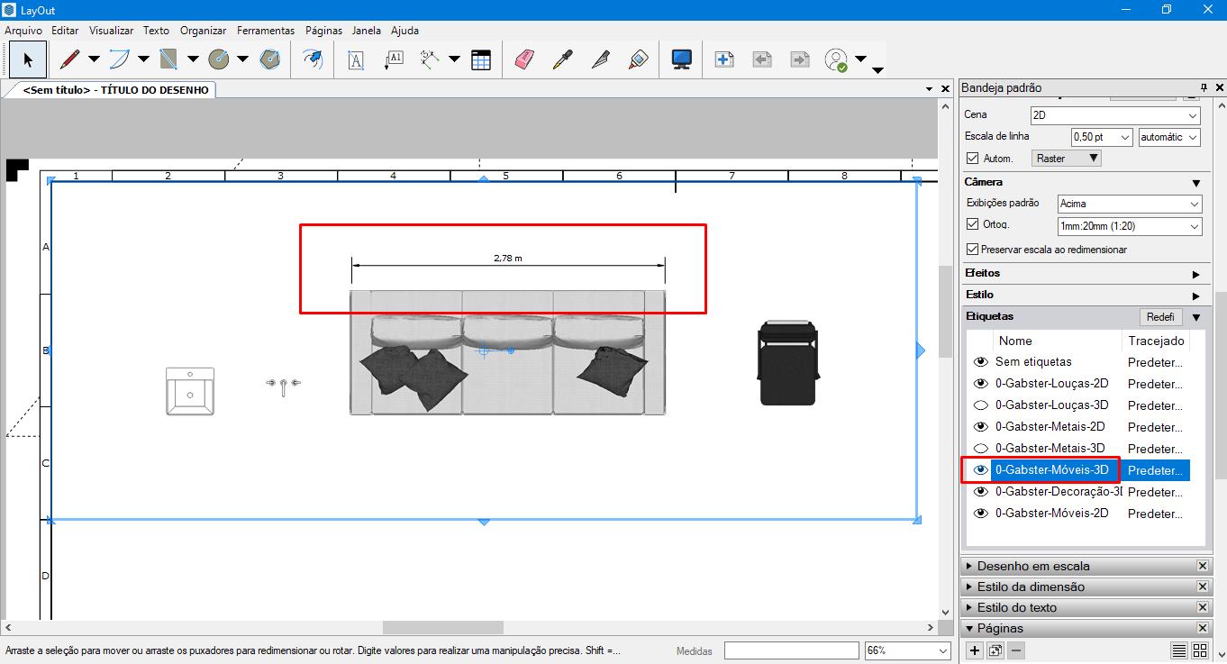 gabster 2D3D layout sketchup