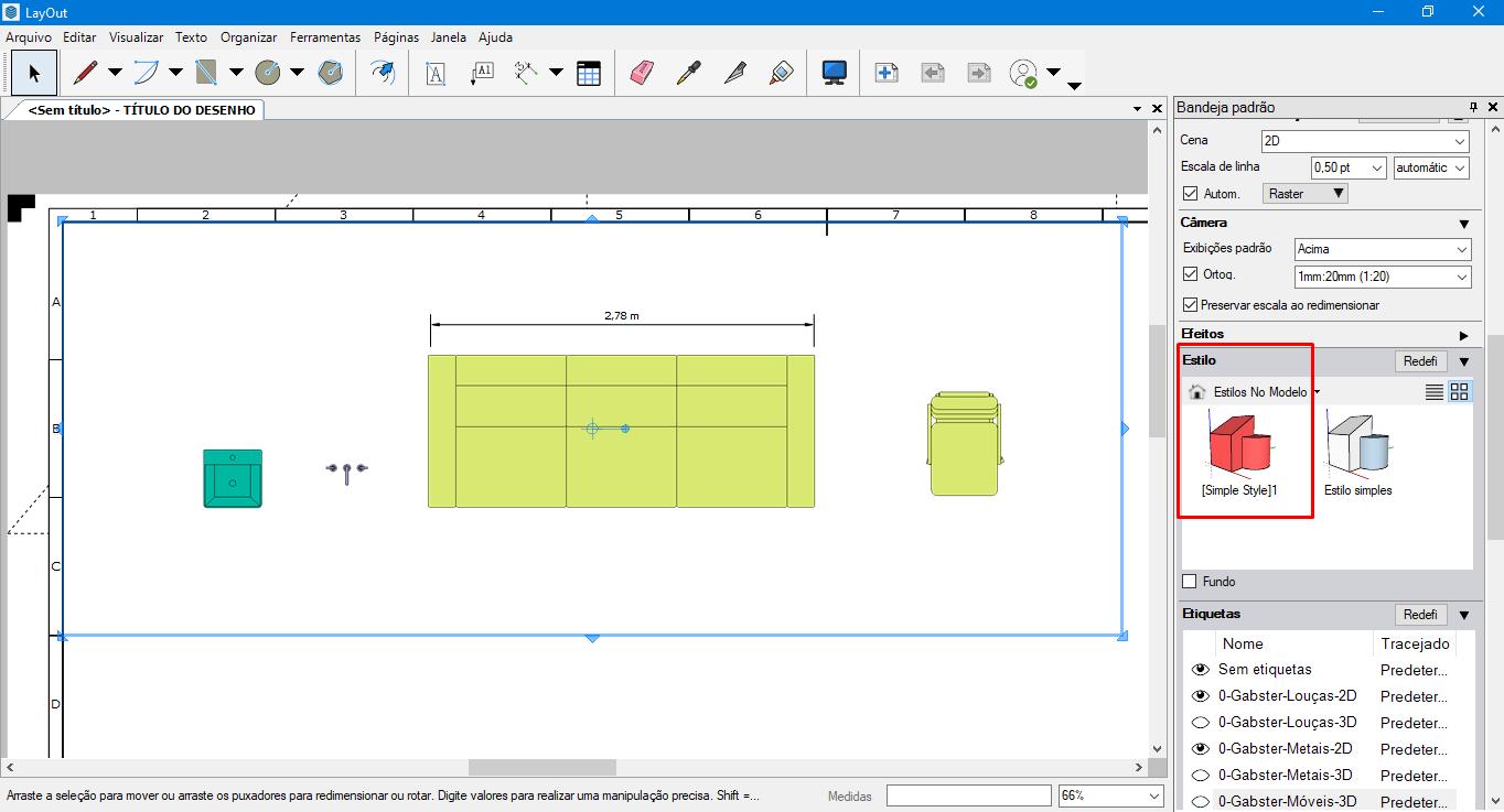 gabster estilo layout sketchup