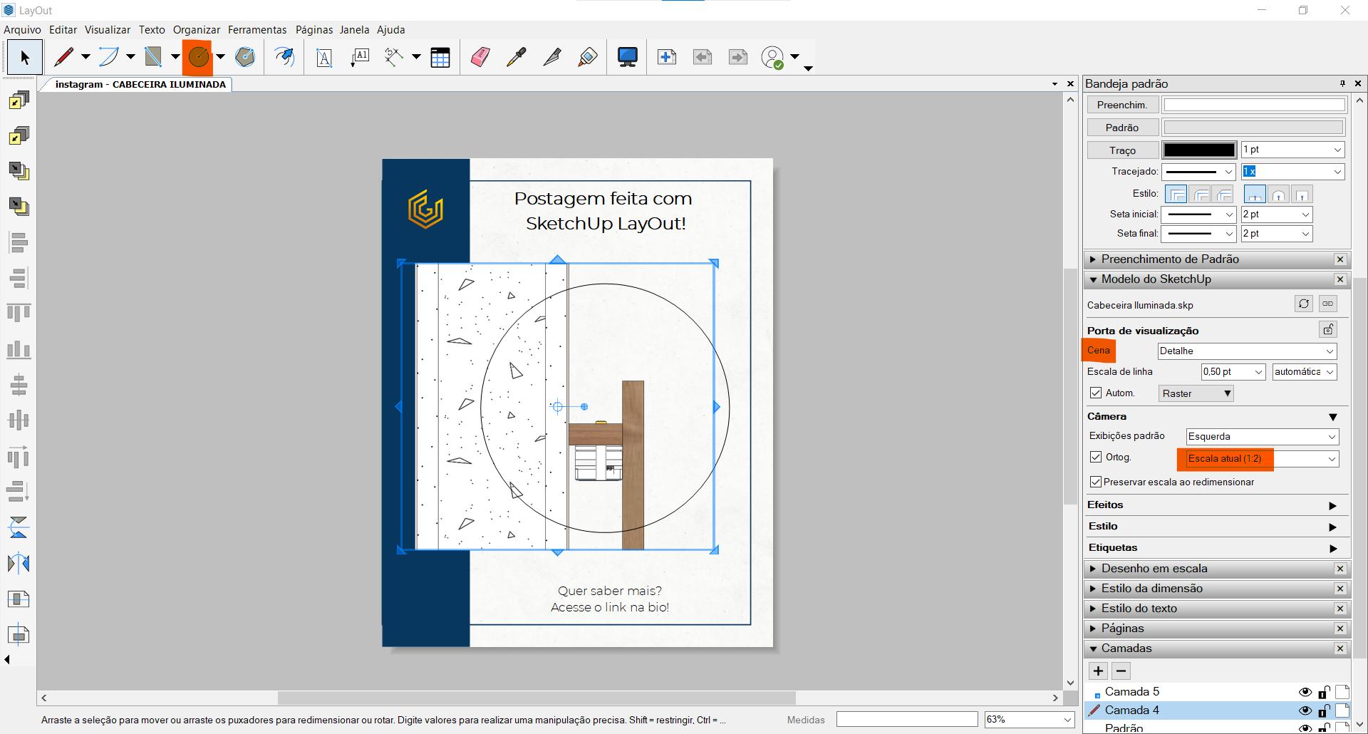 gabster sketchup layout