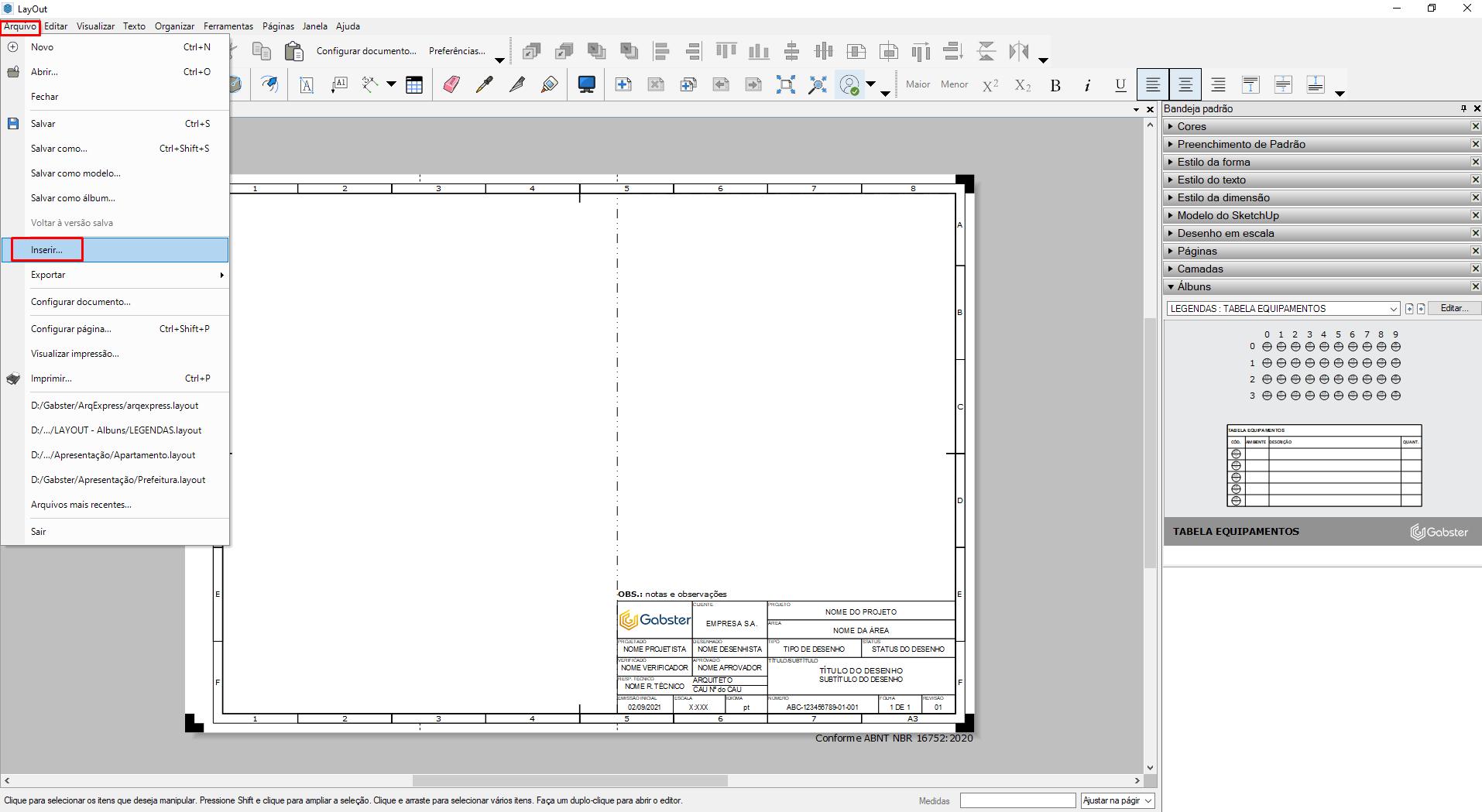 gabster layout sketchup