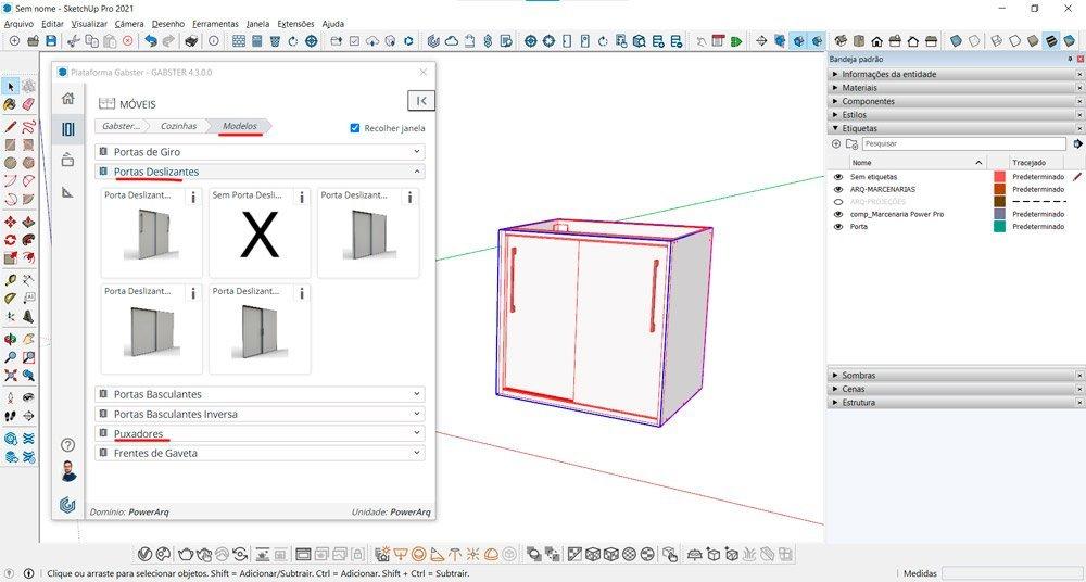 blocos 3D marcenaria blocos sketchup para cozinha