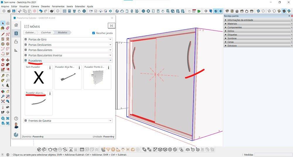 blocos 3D marcenaria blocos sketchup modelos de puxadores