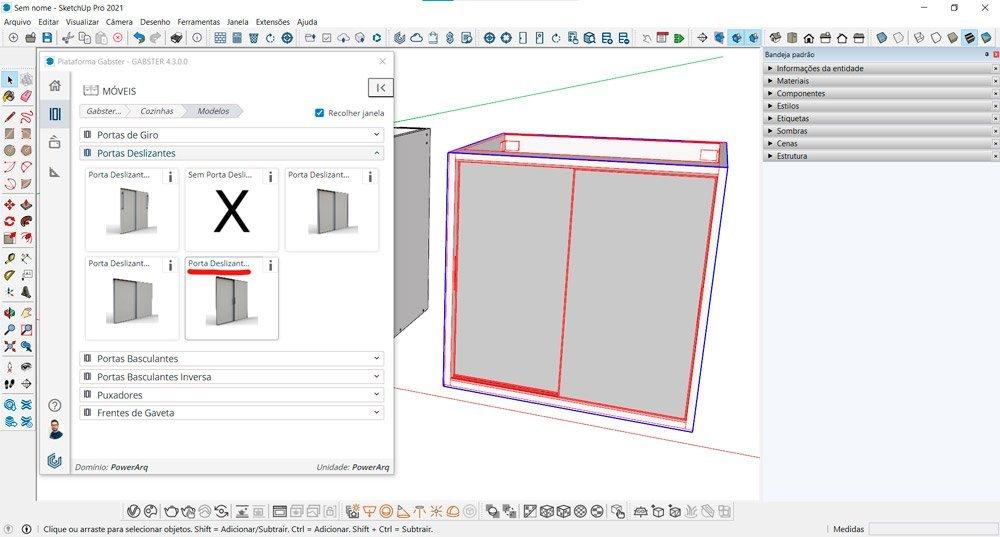 blocos 3D marcenaria blocos tipos de portas